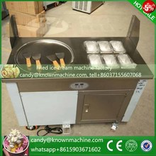Chile 220V Commercial ice frying machine round pan diameter 450mm