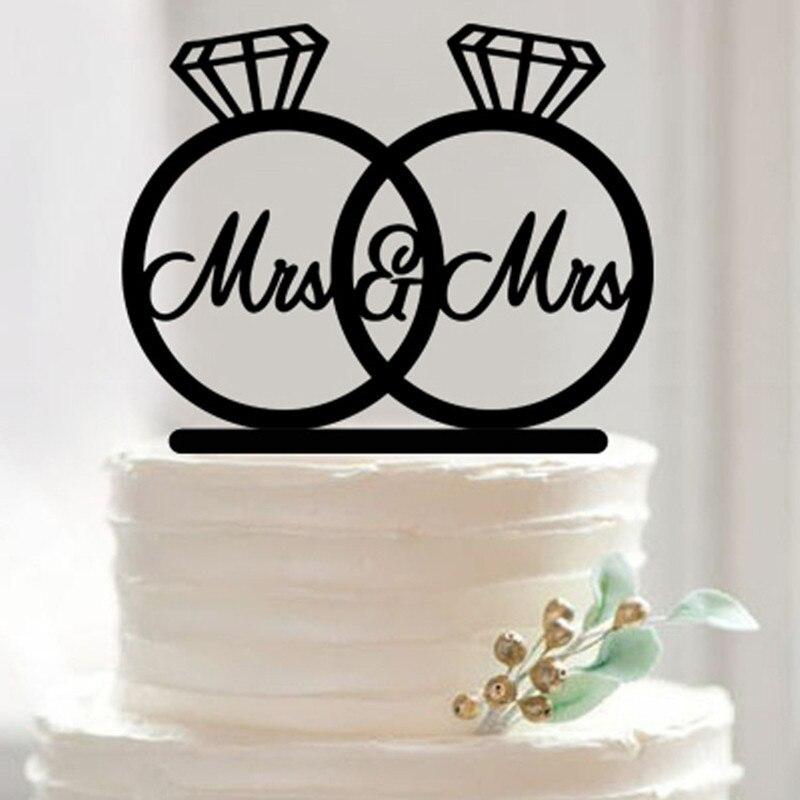 LesGay Wedding Cake Topper Mrs