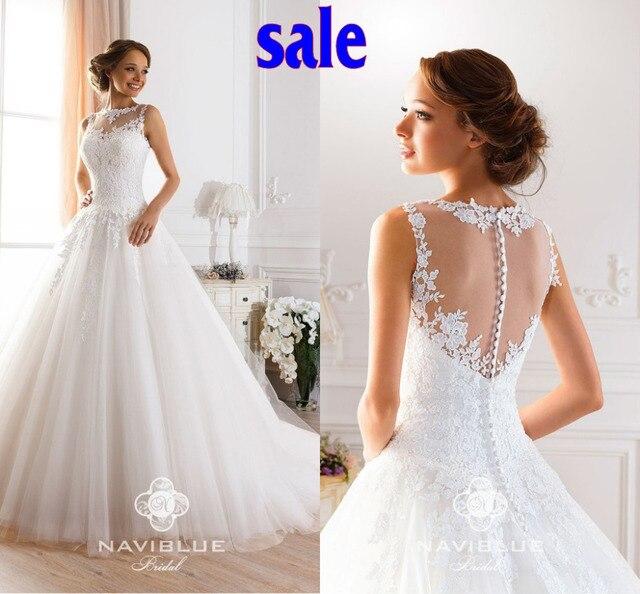 Naviblue Marke Designer 2017 Elegante Vintage Brautkleider Weiß ...