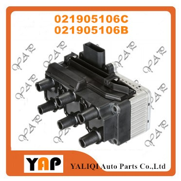 New High Quality Ignition Coil FOR VW Golf 2.8L V6 021905106C 021905106B 0040100007 ZS007 1998-2003