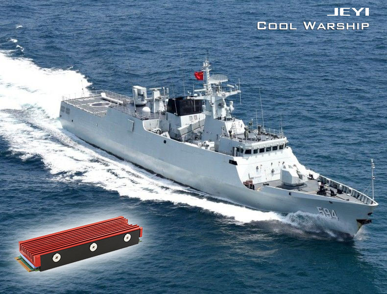 JEYI Cooling Warship Fan NVME NGFF M 2 heatsink 2280 ssd aluminum sheet  Thermal conductivity silicon wafer cooling fan heatsink