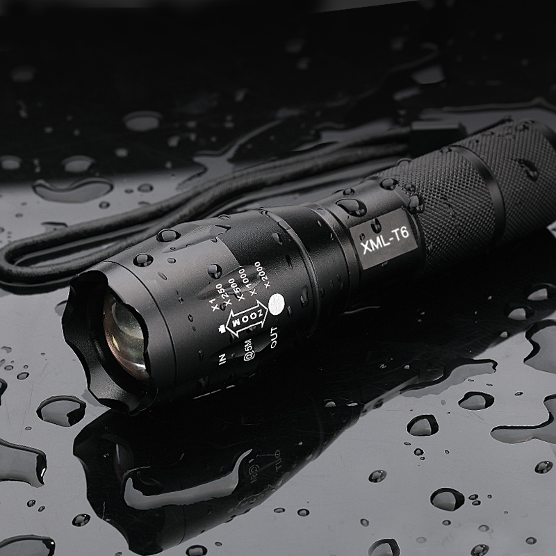 Ultra Bright XML-T6 3800Lumens Powerful LED Flashlight led Torch Zoomable lanterna For 3xAAA or 1x18650 Free shipping все цены