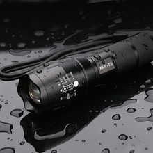 Ultra Bright XML-T6 3800Lumens Powerful LED Flashlight led Torch Zoomable lanterna For 3xAAA or 1x18650 Free shipping