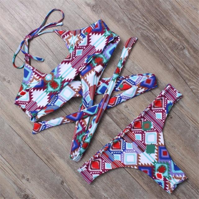 BANDEA sexy bikini brazilian bikini 2017 swimwear women halter swimsuit biquini high neck bikini maillot de bain femme HA023