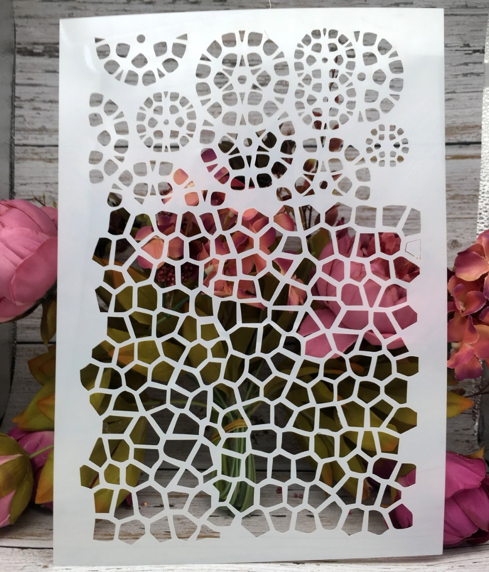 Grid Texture A4 DIY Craft Layering Stencils Wall Painting Scrapbooking Stamping Embossing Album Decor Paper Card Template craft