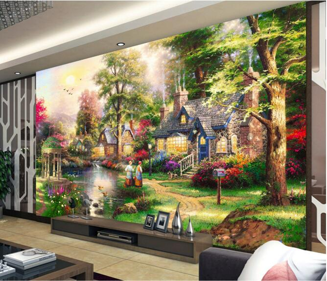 3d wallpaper custom mural non woven wall sticker European country