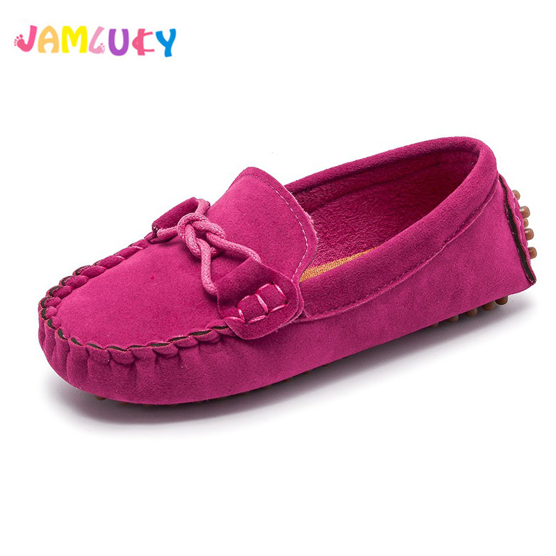 Kids Toddler Shoes Girl Children Spring Summer Soft PU Leather Casual Shoes Boys Loafers Girls Slip On Boat Shoes Children 21-30