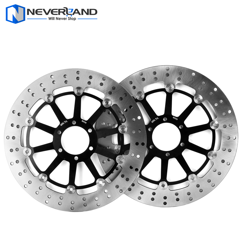 2pcs Front Brake Disc Rotor For YAMAHA FZR-R 750 1989-1992 XJR 1200 1992-1997 Motorcycle keoghs real adelin 260mm floating brake disc high quality for yamaha scooter cygnus modify