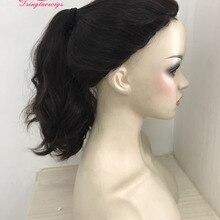 Чудо-парик, парик пони спереди, завязанный вручную парик пони, необработанные волосы(Кошерный парик),, Tsingtaowigs
