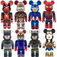 28cm Marvel Action Figure DC Legends Bearbrick 400 Model Toys Be@rbrick 400% Collectible Bearbricks Doll Avengers Endgame