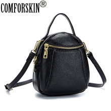 COMFORSKIN New Arrivals Cowhide Leather Messenger Bags 2018 Bolsas Feminina Fashion Ladies Handbags Hot Sales Women Leather Bags classic game anime yu gi oh zexal official card game king of games yugi muto s dark magician girl sex 18cm action figure