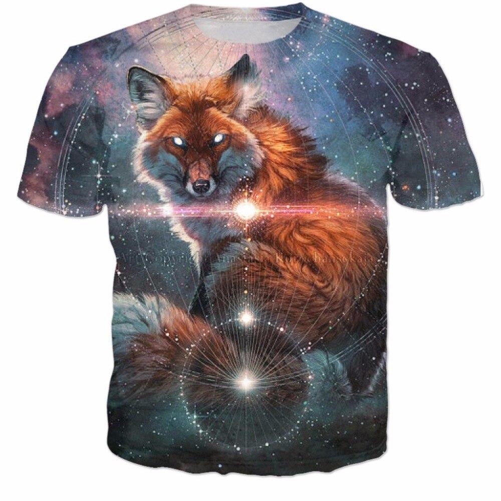 bcca319bf05 Зло футболка с изображением лисы Летний стиль футболка топы ...