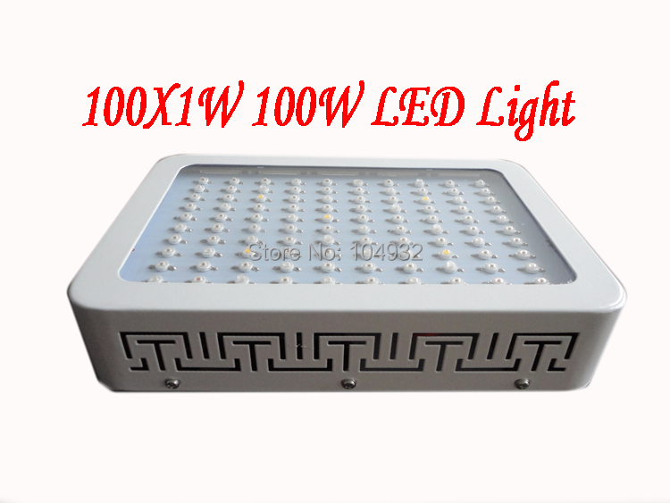 new 1x 100W LED Grow Light 100*1W  Dropshipping Hot selling 10 band  10 Spectrums IR Indoor Hydroponic System Plant Ufo HOT!