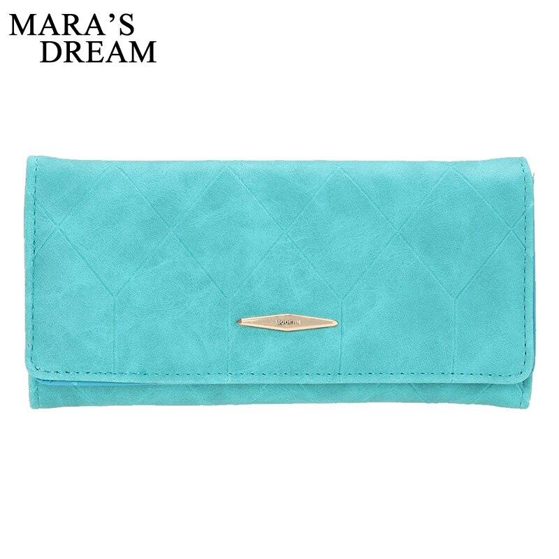 Mara's Dream Fashion Women Wallet Female Cash Purse Brand Matte Suede Zipper Long Wallets Women Solid Hasp ID Card Holder Pocket