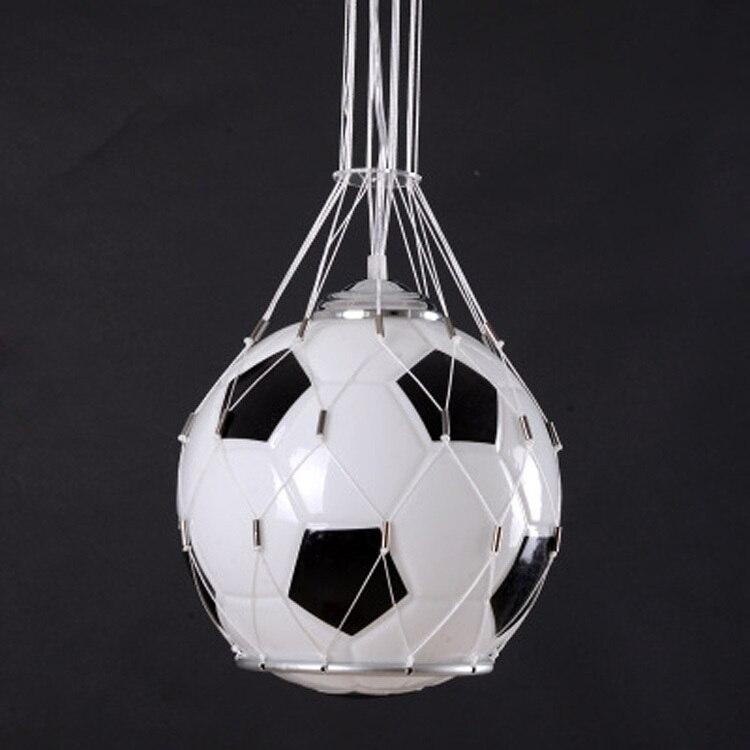 Free shipping Foottball lamp soccer ball light pendant lamp children room glass hanging light kids Christmas Gifts boy's present - 3
