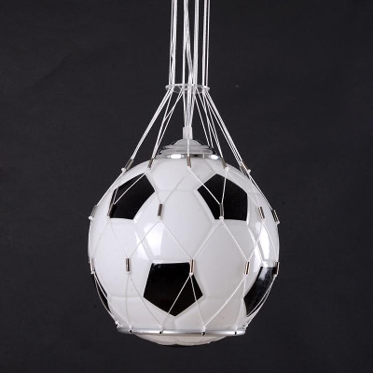 Frete grátis Foottball lâmpada pingente de luz bola de futebol crianças lâmpada do quarto de vidro pendurado luz Presentes de Natal para crianças presente do menino - 3