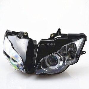 Image 2 - Özel montajlı projektör far mavi ve beyaz melek göz HID Honda için uygun CBR1000RR CBR1000 RR 2008 2011 08 09 10 11