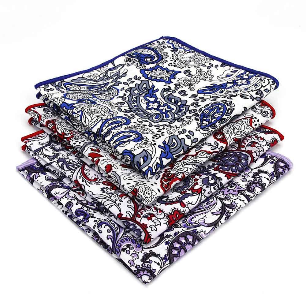Mens Tuxedo Paisley Floral Handkerchief Wedding Party Pocket Square New Stylish BWTYF0218