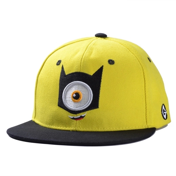 e2f06301127 Despicable me hip hop caps flat snapback hat minion baseball cap eyes  adjustable summer sport sun hat-in Baseball Caps from Apparel Accessories  on ...