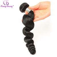 Trendy Güzellik Hint Gevşek Dalga Insan Saç Örgü Paket 1 Adet Olmayan Remy Saç Doğal Siyah Çift Atkı Ücretsiz nakliye
