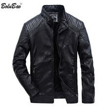 BOLUBAO Brand Leather Jacket Men 2019 Winter Motorcycle Men'
