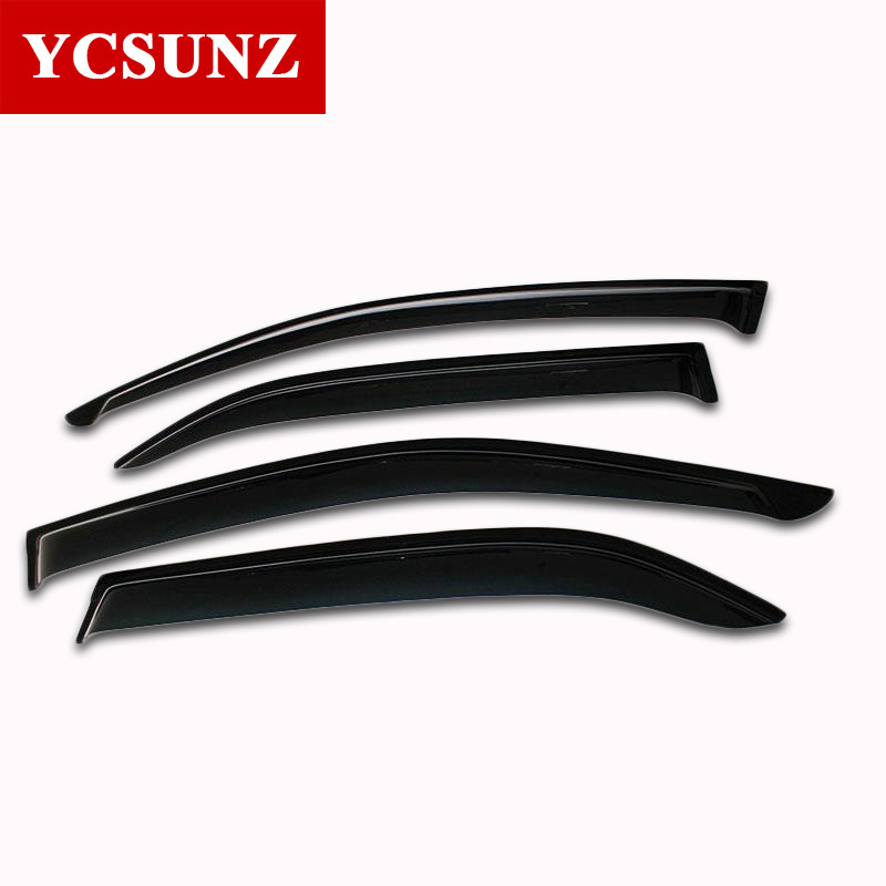 Wind Deflectors For Toyota Fortuner 2012 2013 2014 Car Window Deflector Guard For Toyota Fortuner Windshield Accessories Ycsunz 2015 2017 car wind deflector awnings shelters for hilux vigo revo black window deflector guard rain shield fit for hilux revo