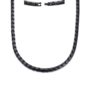 Image 4 - Men Healing Choker Health Energy Power Necklace in Black Stainless Steel Chain Famous Trendy Male Jewelry with 20 Inch