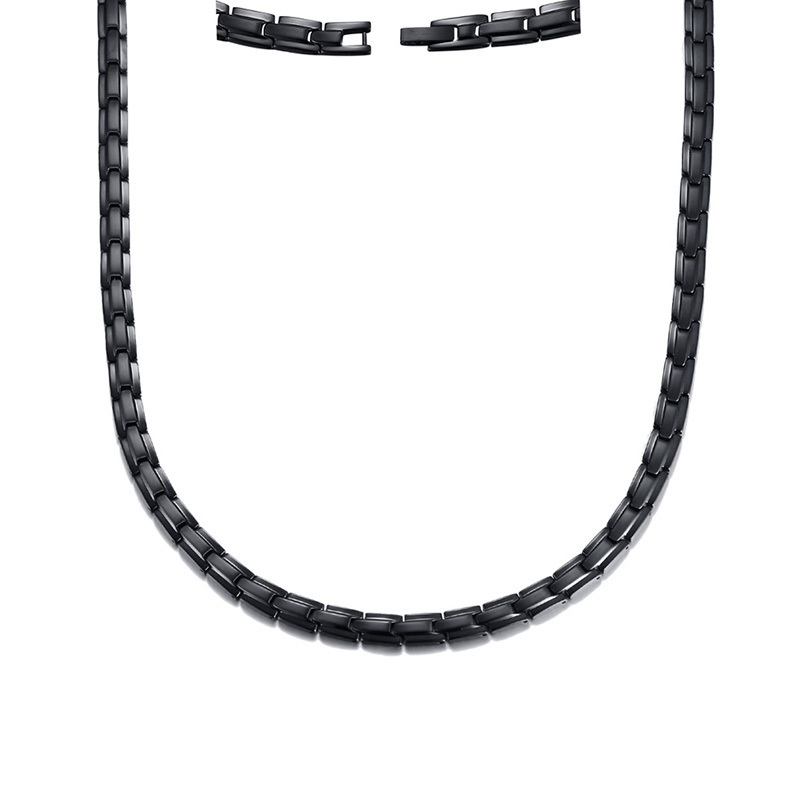 Image 4 - Men Magnetic Healing Choker Health Energy Power Necklace in Black