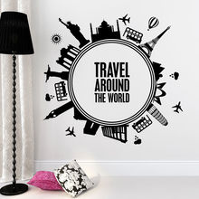 Wall Decal Around World Quote Sticker Home Living