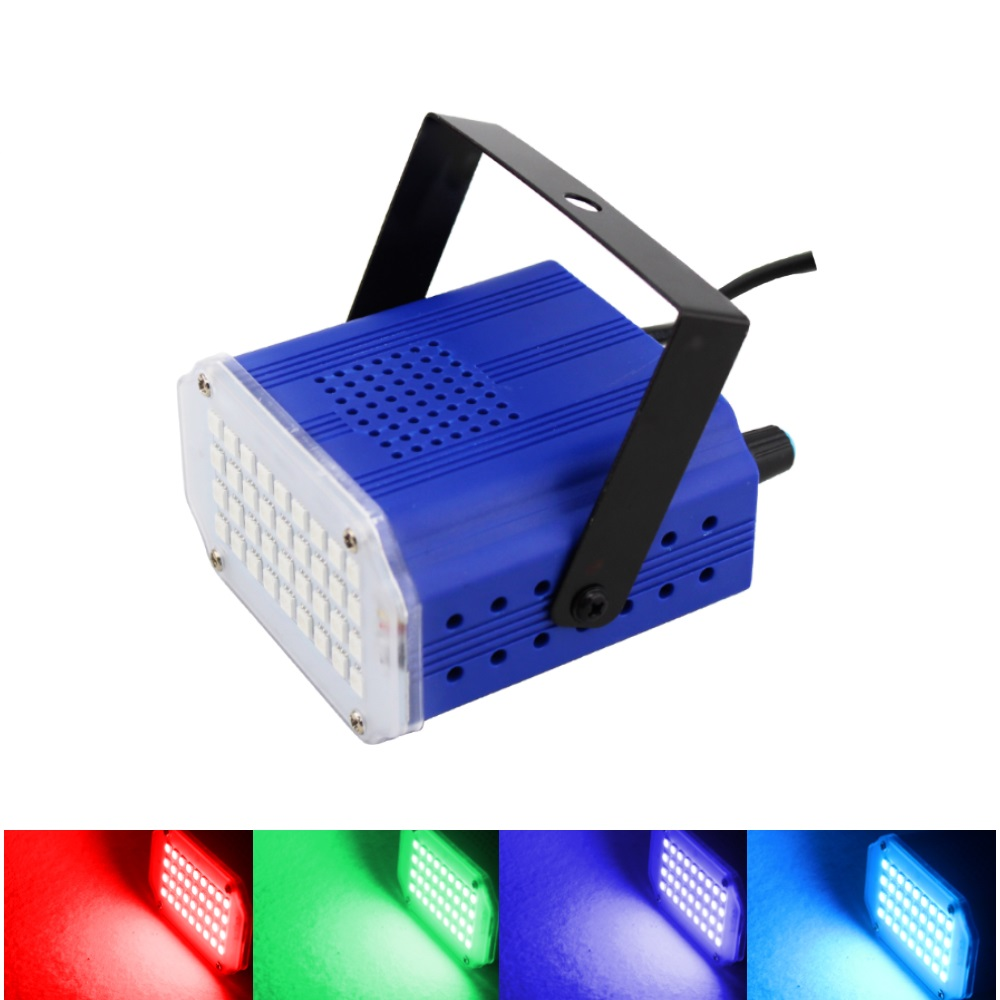 Leclstar 36leds White/RGB LED Stage Light DJ Disco Strobe Flash Light EU/US Plug AC80-240V For Party KTV