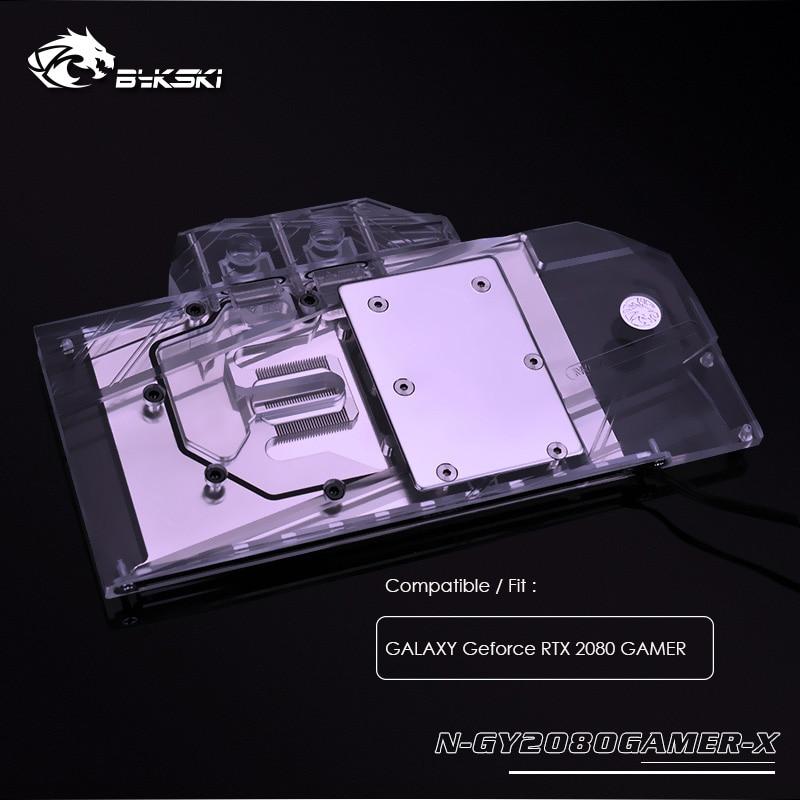 Bykski bloc d'eau utilisation pour Galaxy Geforce GALAXY Geforce RTX 2080 GAMER, refroidisseur GPU/VGA, bloc de refroidissement par eau, N-GY2080GAMER-X