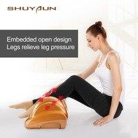 W09 Электрический здоровье и гигиена антистресс релиз мышц терапевтические ролики шиацу Гуа Ша тепла массажный прибор для ступней устройств
