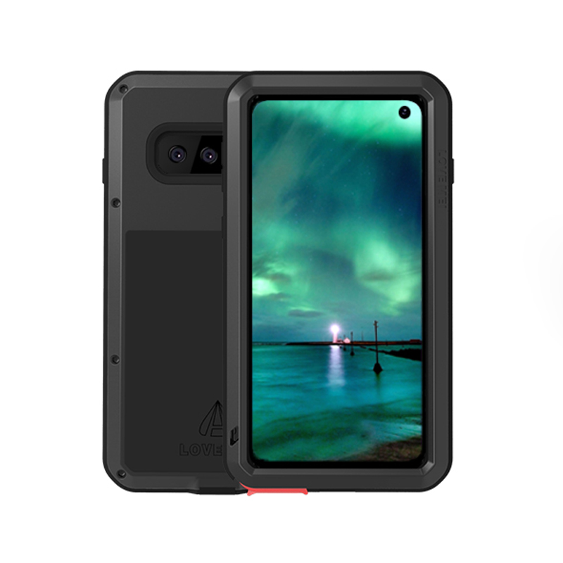 <font><b>360</b></font> Degree Full Body Waterproof For <font><b>Samsung</b></font> <font><b>Galaxy</b></font> <font><b>S10</b></font> Plus Metal Armor Shockproof Cover For <font><b>Samsung</b></font> S10e <font><b>Case</b></font> + Gorrila Glass image