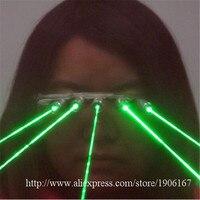 Новые Зеленая лазерная Очки Рождество Хэллоуин украшения Laserman показать Очки этап лазерное шоу партия очки