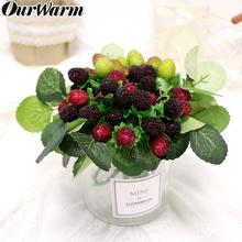 OurWarm Wedding Artificial Plant Strawberries Fake Fruit Decoration Home Accessories Flowers Photo Props 27cm