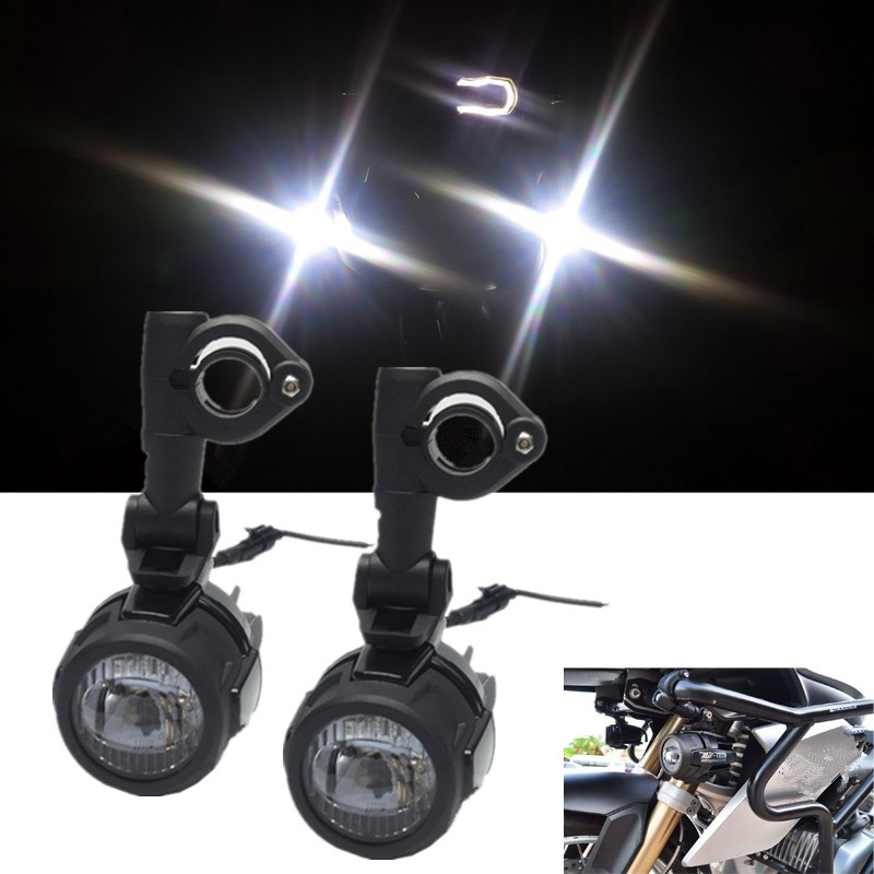 Motorcycles Led Fog Light  U0026 Protect Guards With Wiring