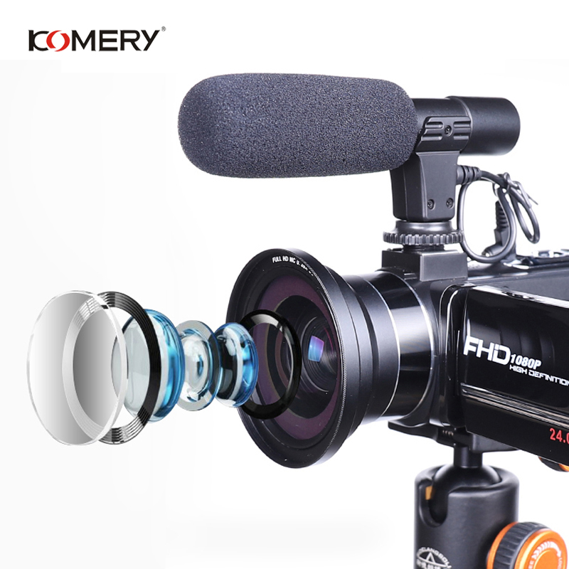 KOMERY Original Video Camera Touch Screen 1080P Support WIFI 24 Million Pixel 8X Digital Zoom Face Recognition Beauty Function