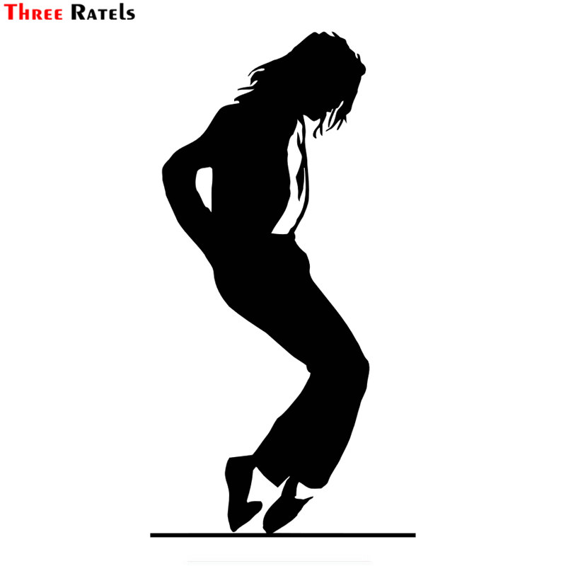 Three Ratels LBH493#  15.1x8cm  Michael Jackson Car Stickers Facecar Stickers Auto Decals