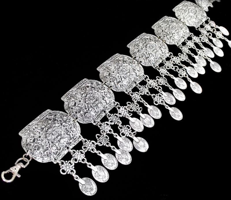 Bohemian Gypsy Women Antique Silver Waist Chains Boho Sexy Beach Body Chains Coins Tassel Turkish Belt Belly Chains Body Jewelry