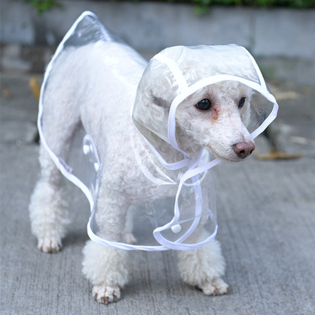 Waterproof Dog Clothes Raincoat Transparent Rain Coat Pet Dog Clothes Pet Raincoat Clothes For Small Dogs Chihuahua Clothing S1