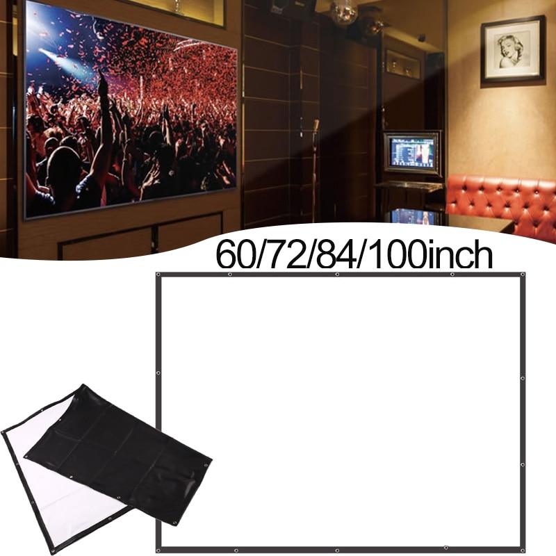 Projecteur Écran 84 Pouce PVC HD Projecteur Rideau Mariages des Ombres chinoises L'école Lobbies Bureau Home Cinéma Écran De Projection