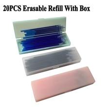 20Pcs Refill with Box 0.5mm Erasable Pen Refill Rod Blue Black Red Ink Gel Pen Refills Washable School Office Writing Stationery недорго, оригинальная цена