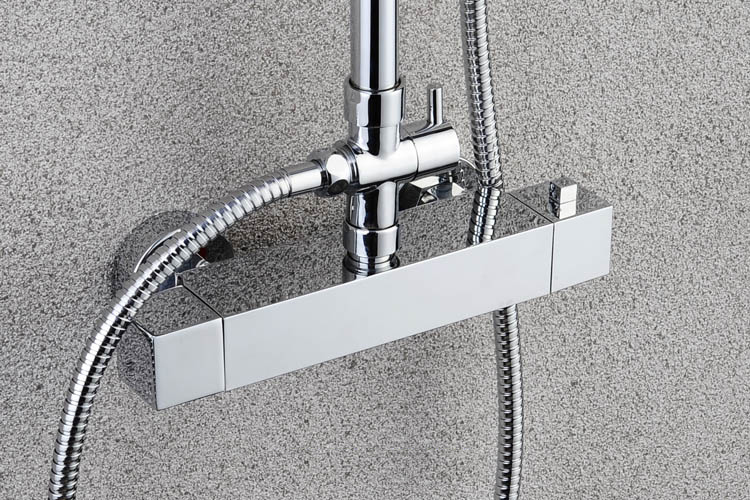 Stainless steel big rainfall shower faucet cold and hot water shower head set - 4