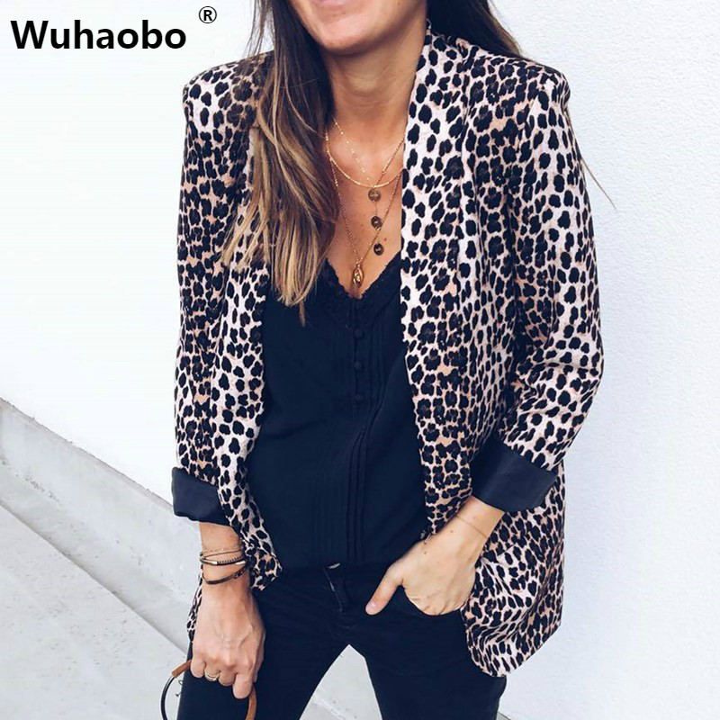 Wuhaobo Blazers Women Jackets Spring Sexy Suit Cardigan Long-Sleeve Slim Autumn Office Lady