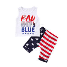 Summer Boys Beach Casual Clothes Newborn Infant Baby Boy Two Piece Sleeveless Letters Vest Tops Stripe Stars Pants Outfits Set(China)
