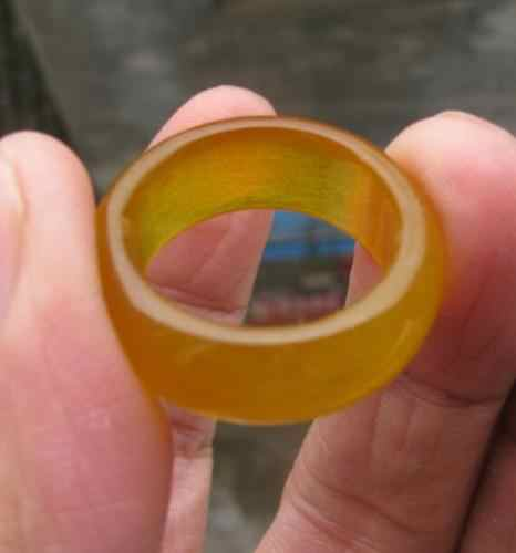 ร้อนขาย>@@ 0xโบราณหยกเหลืองธรรมชาติมือแกะสลักแหวน-เจ้าสาวเครื่องประดับจัดส่งฟรี