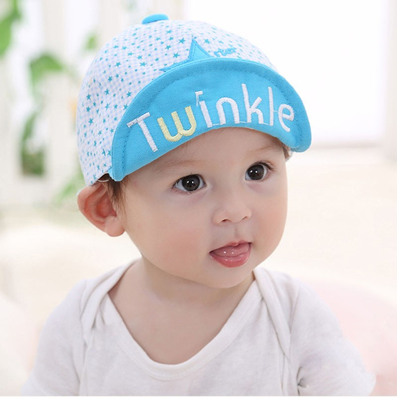 Embroidered Twinkle and Star Baby's Baseball Cap - Brim Up
