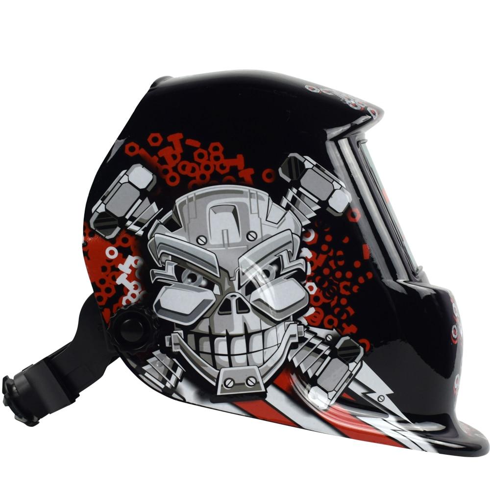 Сварочный шлем Автоматическая Замена Сварочная маска на голову сварочный аппарат Сварочная маска WN 107 Mechanical голова черепа - 4