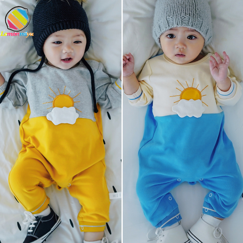 Lemonmiyu Baby   Rompers   Long Sleeve Newborn Cotton O-Neck Autumn Baby Boy   Rompers   Cartoon Sun Casual 0-24M One-Piece Clothing