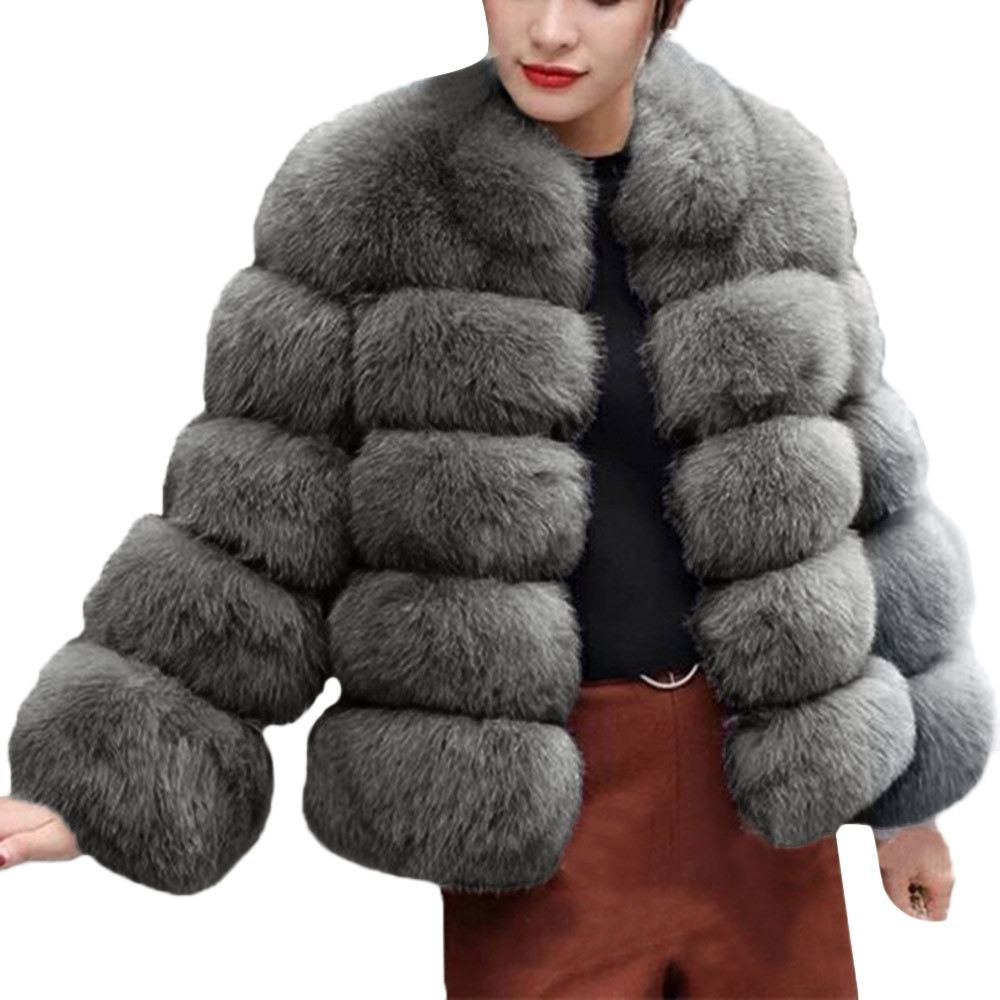 Mode En Fourrure Manteau Capuchon Pardessus Hiver Fausse Chaud C Femmes Solide a De d Luxe À 18nov5 b Jaycosin Épais 2018 Automne ukZiPX
